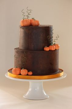 Chocolate ganache and sugar pumpkins
