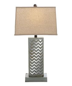 Look at this Wood & Mirror Table Lamp on #zulily today!