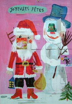 Charming advent calendar by Nathalie Lete