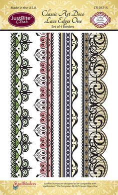 JR CR-03715 Classic_ Art_ Deco_ Lace_ Edges_ One