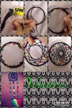 Best diy dream catcher step by step how to make Ideas Homemade Dream Catchers, Making Dream Catchers, Dream Catcher Craft, Los Dreamcatchers, Diy Dream Catcher Tutorial, Crafts To Make, Diy Crafts, Diy Gifts For Dad, Make Tutorial