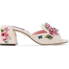 ac6acf5cb Dolce  amp  Gabbana rose block heel sandals (£850) ❤ liked on Polyvore