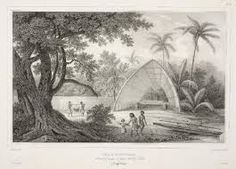 Another Image by Joseph Lemercier which added to his collection of Tongan fale(house) in 1833.