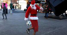 Santa shows #NYC his soccer skills in hilarious video. #soccersanta #santa #soccerskills #soccer #funnysoccer #soccervideos