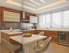 Post com exemplos lindos de projetos de cozinhas bem planejadas em apartamento.