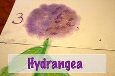 Chalk Pastels Hydrangea art tutorial
