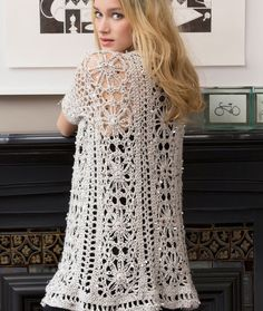 Fashion-Forward Duster Free Crochet Pattern from Red Heart Yarns