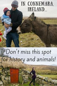 Planning travel around County Galway, Ireland? Don't miss the Dan O'Hara Homestead and Connemara Heritage Centre for Irish migration history and a working farm with animals!