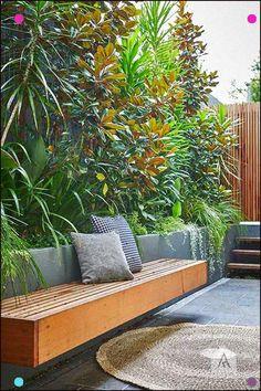 Stanmore landscape design project Photography Natalie Hunfalvay – Famous Last Words Backyard Garden Design, Garden Landscape Design, Backyard Patio, Landscape Designs, Backyard Designs, Steep Backyard, Courtyard Design, Courtyard Ideas, Modern Garden Design