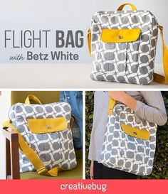 how to make this super cute flight bag. This+structured+bag+offers+great+opportunities+to+learn+all+about+bag+construction+and+finishing.This+structured+bag+offers+great+opportunities+to+learn+all+about+bag+construction+and+finishing. Sewing Hacks, Sewing Tutorials, Sewing Crafts, Sewing Projects, Bag Tutorials, Purse Patterns, Sewing Patterns, Diy Sac Pochette, Structured Bag