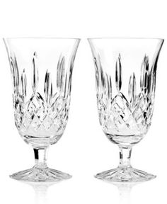 Waterford Stemware, Lismore Iced Beverage Glasses, Set of 2