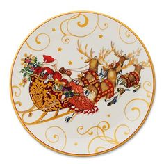 u0027Twas The Night Before Christmas Kids Melamine Plate Set of 4 #williamssonoma  sc 1 st  Pinterest & Twas The Night Before Christmas Platter Santa | Williams-Sonoma ...