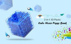 Creative 3D Plastic Cube Maze Piggy Bank   Material plástico ecológico durável. 3D labirinto mais interessante promovendo inteligência e adequado para pessoas de todas as idades.Creative 3D Plastic Cube Maze Piggy Bank tu compra na gearbest. Quebra-Cabeça