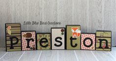 Personalized wood blocks for children  nursery decor  wood
