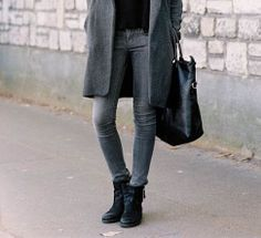 Grey and Black all in one Look!