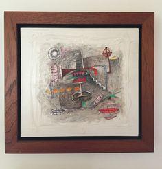 Título: Hueco Negro   Autor: Alvaro Galindo Vácha   Dimensiones: 21.5 x 21.5 cm   Técnica: Acrílico sobre madera   Año: 2012   Firmado: Frente y revés