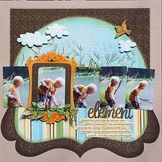 you can do anything scrapbooking layout idea Kids Scrapbook, Scrapbook Paper Crafts, Scrapbook Cards, Scrapbook Photos, Scrapbook Templates, Wedding Scrapbook, Scrapbook Layout Sketches, Scrapbooking Layouts, Card Making Inspiration