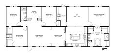 Clayton Homes   Home Floor Plan   Manufactured Homes, Modular Homes, Mobile Homes 4bed 2bath 2living study