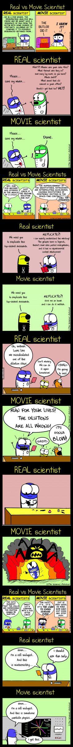 Real vs movie scientist (COMIC) | ScienceDump