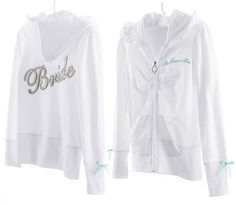 Victoria Secret Hoodies | Victoria's Secret Bling Bridal Hoodie