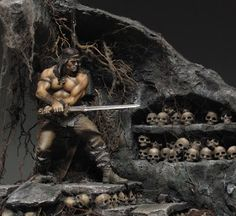 Pegaso Models Conan - Dungeon of skulls painted by Sergey Popovichenko