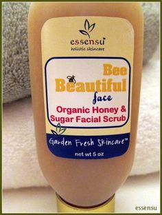 Bee Beautiful Face Organic Wildflower Honey Sugar Facial Scrub.