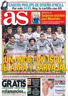 Los Titulares y Portadas de Noticias Destacadas Españolas del 8 de Julio de 2013 del Diario Deportivo As ¿Que le parecio esta Portada de este Diario Español?