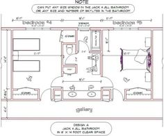 bathroom floor plans with dimensions | re: jack and jill bathroom