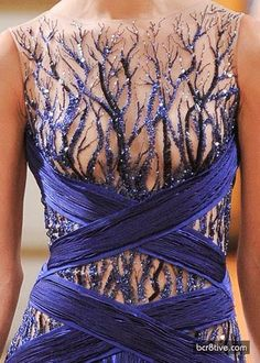 I love this dress. The bodice screams nature! The detail in the bodice simulate tree branches for me. The colours are gorgeous!