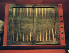 Tabula board uncovered from the wreckage of the Mary Rose; online backgammon > on.fb.me/1869cF3