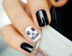 Unha decorada com tema de Halloween! #halloween #nailart #nail #unha #unhas…