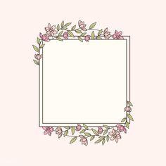 Framed Wallpaper, Flower Background Wallpaper, Flower Backgrounds, Ideas Scrapbook, Logo Floral, Boarder Designs, Doodle Frames, Instagram Frame Template, Simple Flowers