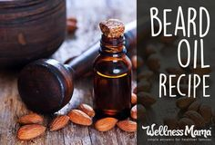 Wonderful homemade beard oil recipe. This protects skin and hair with almond oil, jojoba, argan and essential oils.