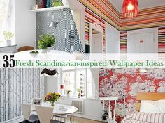 35 Cool and Fresh Scandinavian-inspired Wallpaper Ideas