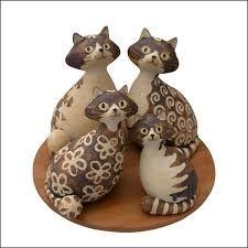 """Résultat de recherche d'images pour """"modele de chat en poterie"""""""