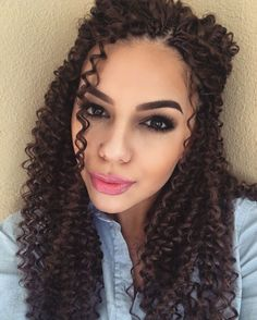 New Crochet Braids Freetress Water Wave Long Hair Care Ideas Crochet Braids Hairstyles, Twist Hairstyles, Micro Braids, Twist Braids, Twists, Long Braids, Braids With Shaved Sides, Curly Hair Styles, Natural Hair Styles