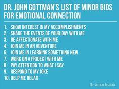 Pequeños gestos para mejorar la conexión emocional - The Gottman Institute