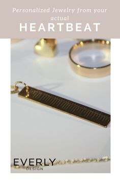 Personalized Gift - Have your ACTUAL HEARTBEAT on this Gold Tango Necklace. Download the Everly Design App to Give a Gift from Your Heart (Literally)! Love Band, Eternal Love, In A Heartbeat, Personalized Jewelry, Tango, App Design, Jewelry Design, Pearl Earrings, Necklaces