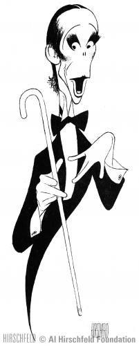 Al Hirschfeld ~ Joel Grey in CABARET.