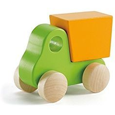 Hape Wooden Toy Cars & Trucks for Kids (4 Pieces) - Early Explorer Wooden Toy Vehicles - Little Copter, Dump Truck, Plane and Mini Van