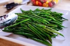 Simplest, most amazing green beans (just add slivered toasted almonds when finished) from Ree Drummond