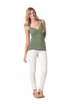 Synergy Organic Clothing | Sweetheart Cami in Grass - Solid - Shop By Appliqué