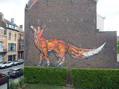 Frenetic Animal Murals by Dzia Swirl to Life Across the World