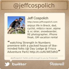 Jeff Cospolich is on Twitter @jeffcospolich's Twitter profile courtesy of @Pinstamatic (http://pinstamatic.com)