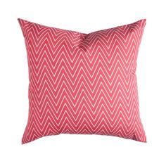 Coral Tall Chevron Pillow