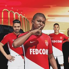 86fb0ad61 The new AS Monaco home jersey launches tomorrow! Suit up like the French  champs in