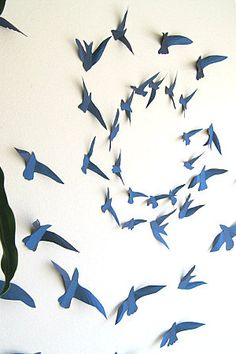 paper birds - Google Search  sc 1 st  Pinterest & 50 3D Bird Wall Art Circle Burst | Pinterest | Bird wall art Walls ...
