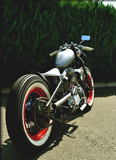 "bobberinspiration: "" Harley-Davidson Ironhead Sportster bobber """