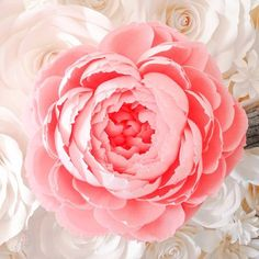 Large Paper Flower - Giant Crepe Paper Peony - Giant Paper Flowers - Crepe Paper Peony - Paper Flower Backdrop - Wedding Decor