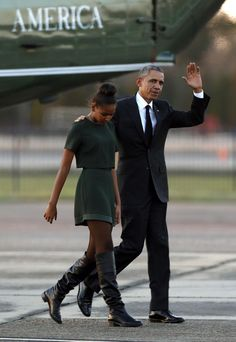 President & Sasha Obama that is a badass outfit!